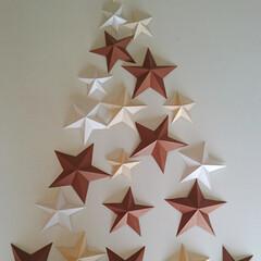 「星を色画用紙でつくりました。」(1枚目)
