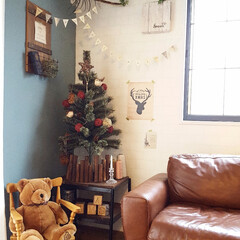 クリスマス/クリスマスディスプレイ/ツリー/NITORI/いなざうるす屋さん/元和室 ツリーがこの場所には小さかったので、ミニ…