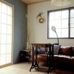 ペンキ塗装/カインズホーム/和室改装/DIY/リフォーム/リノベーション/... 和室改装*壁* 壁一ヵ所をブルーグレーに…