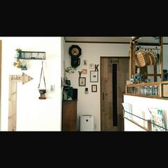 リフォーム/部屋作り(部屋づくり)/男前インテリア/diy201604/部屋作り 矢印型の身長計、扉は足場板で作りました!