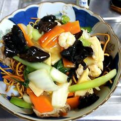 堅あげ焼きそば/生麺 はじめてレシピ通りに作りましたよ😃 すご…(1枚目)
