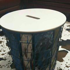 DIY/雑貨/インテリア/イケア/収納/節約/... IKEAのテーブル 廃材にペイントでアレ…
