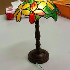 ダイソー ダイソーのアンティーク調ランプの土台を使…