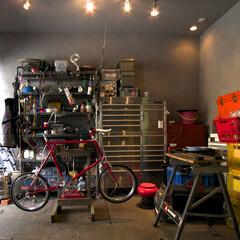 男の隠れ家 オーナーの趣味が詰まったガレージです。