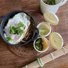 お弁当 もやしと青唐辛子醤油のオイスターソース焼…(1枚目)
