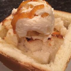 ハニートースト/バニラアイス/蜂蜜/食パン 暖かい部屋であったか冷たいハニートースト…