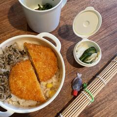 お弁当 コロッケ弁当🍱  ハムと玉葱ととうもろこ…(1枚目)