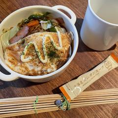 お弁当 焼きそば弁当🍱  目玉焼き、玉葱醤入りオ…(1枚目)