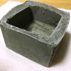 DIY/セメント鉢/ガーデン 初セメント鉢! ちょっと失敗💦💦
