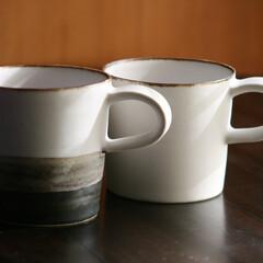 マグカップ/バンドメイド/陶芸/切っ立て/プレゼント/食器/... シャープな雰囲気の台形型、丸い曲線の椀型…