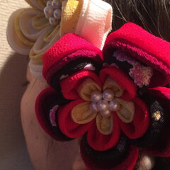 つまみ細工/結婚式/七五三/和装小物/髪飾り/手芸/... 結婚式に着物で出席する用に作ったつまみ細…(3枚目)