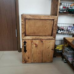 木工DIY/木工作品/木工/カフェ風ごみ箱/DIY DIYぼっちさんのアイデアのカフェ風ゴミ…