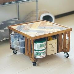 ローテーブル/木工DIY/木工品/木工作品/木工家具/木工雑貨/... 端材消費でヘリンボーン柄のローテーブルを…