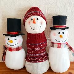 スノーマン作り/スノーマン/クリスマスの準備/クリスマスdiy/クリスマス手作り/クリスマス準備/... ソックスでスノーマン作り♪(1枚目)