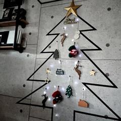 2018/冬/クリスマス/クリスマスツリー/DIY/ハンドメイド/... 場所をとらない マステツリー バーンスタ…