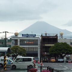梅雨 雨で富士山が見えるのは珍しい。 #富士山