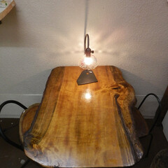 自然木アイアンテーブル 自然木いちょうの木アイアンテーブル  こ…