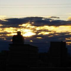 お正月2020 今年はベランダからの初日の出は雲が邪魔を…