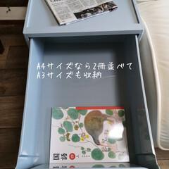 収納ケース 引き出し プラスチック A4 スタックシステムケースS(収納ケース)を使ったクチコミ「インテリアにもなる収納ケース。 スタック…」(4枚目)