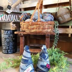 デニム好き/男前インテリア/デニムツリー/ツリーベース/クリスマスツリー/DIY/... ダイソーのツリーベースで デニムツリー …