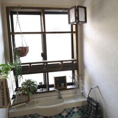 トイレインテリア/トイレ/ランプシェード/ダイソー/100均/DIY/... ダイソーリメイク。 アンティークなランプ…