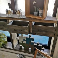 糸カスガイ 鎹 細目 45mm(かすがい)を使ったクチコミ「2階のトイレ 窓を開けるとお隣さんのベラ…」