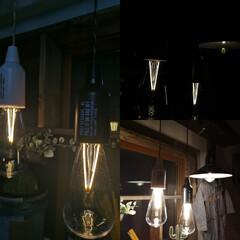 エジソンバルブ電球/エジソン電球/エジソンランプ/照明/ペンダントライト/インテリア/... ライトアップしてみました。 エジソンバル…