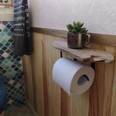 壁紙/ヒノキ/杉/木の壁紙/クレコラボ/トイレインテリア/... 本物の木を使った壁紙。 クレコラボの壁紙…