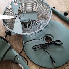 PIERIA 30cm メタルリビングファン | FLU-301 | SBL サックスブルー | ピエリア | Pieria(扇風機、サーキュレータ)を使ったクチコミ「寝室に扇風機を買いました メタルで 見た…」