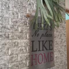 シールタイプ/DIY/壁紙/kumimoku/クッションレンガシート/カインズ 廊下の壁紙瞑想中。 一人あーでもない。 …