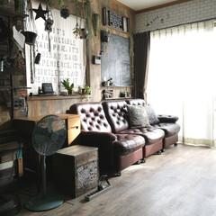 カリモクソファ/カリモク/黒板DIY/壁紙屋本舗/クッションフロア/DIY/... やっと 今日から2学期スタート 長かった…
