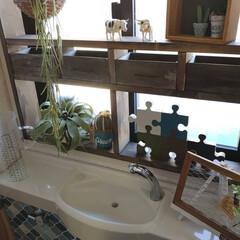 100均リメイク/100均/窓枠/窓枠DIY/トイレインテリア/トイレ/... おはようございます 今日は長男だけ水泳大…