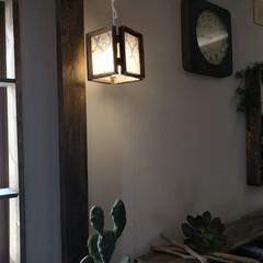 ランプシェード/ダイソー/100均/DIY/雑貨 ライトアップ。 ダイソーのフォトフレーム…