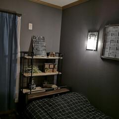間接照明/100均DIY/100円均一/100均リメイク/ペンダントライト/セリア/... 息子の部屋。 100均ペンダントライトだ…