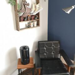 DIY/パーケット柄/クッションフロア/カリモク/癒し空間/加湿グッズ/... 寝室に加湿器を購入。 超音波式加湿器 と…