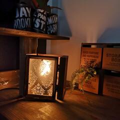 ランプシェード/ダイソー/100均/DIY/雑貨/ハンドメイド ダイソーリメイク。 アンティークなランプ…