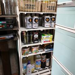 デッドスペース/100均DIY/すのこリメイク/すのこ/ダイソー/セリア/... 冷蔵庫と壁21cmのデッドスペース。 1…
