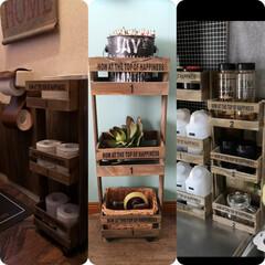 100均/セリア/100均DIY/収納/収納ラック/簡単DIY 100均DIY セリアの木製ボックスと …