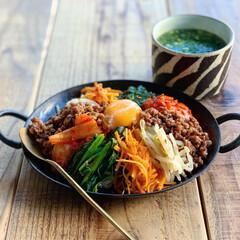 韓国料理/成田理紀/ビビンバ/おうちごはんクラブ/おうちごはん/グルメ/... Today's breakfast 20…