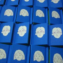 結婚式/席札/豆本/イラスト/カードスタンド/記念品 自分の結婚式の席札として製作しました。 …