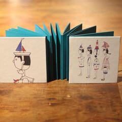 蛇腹本/アルバム/ミニ/写真 蛇腹式の小さなアルバムです。 日記を書く…