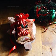 いちご/イチゴ/ケーキ/ロールケーキ/ストロベリー/スイーツ/... いちごたっぷりのいちごのロールケーキ♡*…