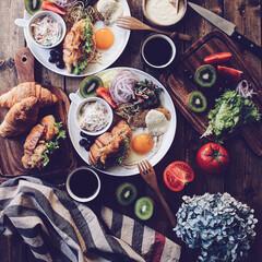 bread/クロワッサン/brunch/キッチン/フード/グルメ brunch♡ いつも楽しみにしているの…