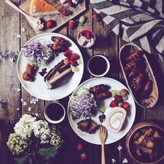 暮らし/ケーキ/brunch/おうちごはん/キッチン/グルメ/... brunch♡ お誕生日のお祝いに頂いた…