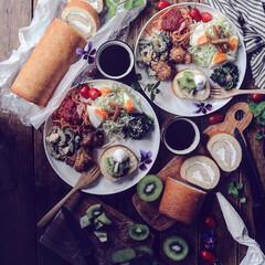 ロールケーキ/レシピ/スイーツ/おうちごはん/キッチン/フード/... ・ brunch♡ ・ 今日のbrunc…