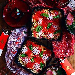 グルメ/レシピ/お正月/ちらし寿司/すし/スシ/... お正月♡簡単ちらし寿司でおもてなし♬突然…