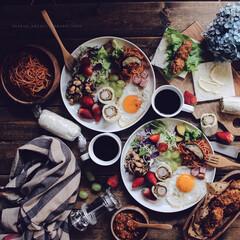 暮らし/ワンプレート/brunch/サンドイッチ/おうちごはん/キッチン/... brunch♡ 毎日のbrunchはワン…