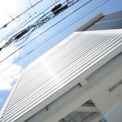 アルミ格子/和モダン/和風モダン/注文住宅/デザイナーズ住宅/家の外観 こだわりの和モダンデザインの家 画像のご…