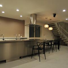 キッチン/天板/TOYOキッチン/トーヨーキッチン キッチン、テーブルをつなげて配置、使い方…