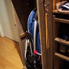 ワシンガードラックラテックス/ターナー色彩カラースパイス/扉DIY/靴箱/フォロー大歓迎/DIY/... 靴箱の扉がやっとできました😊 扉は 旅行…(3枚目)